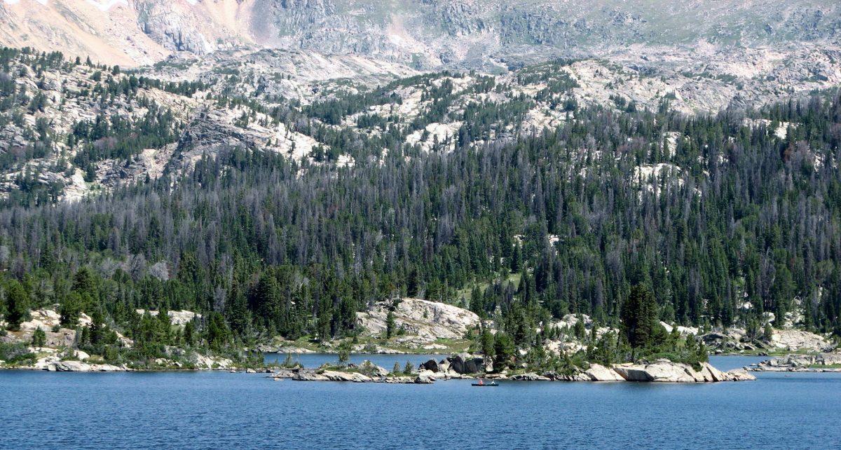 Island Lake on the Beartooth Plateau