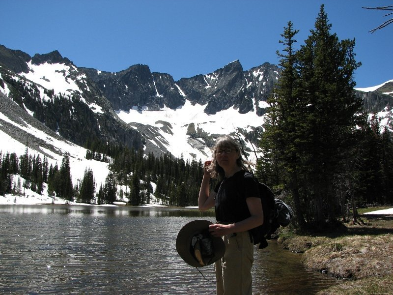 Enjoying the scenery at Twin Lake