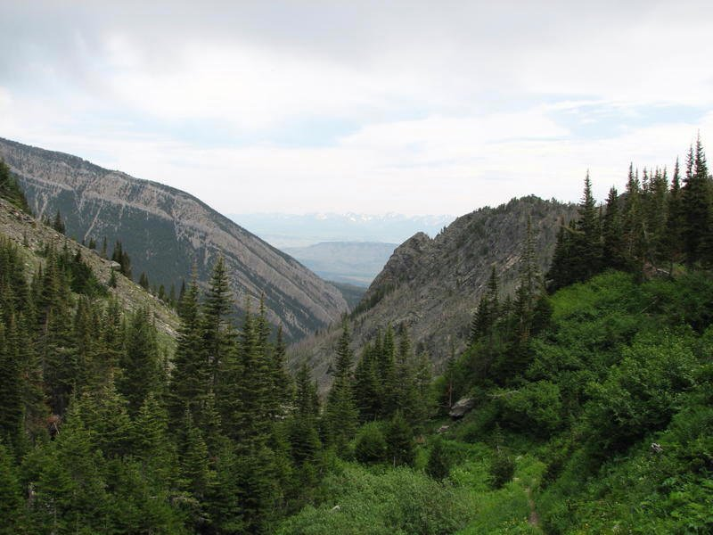Photo of the view downcanyon from near the top of the Elephanthead Mountain trail.