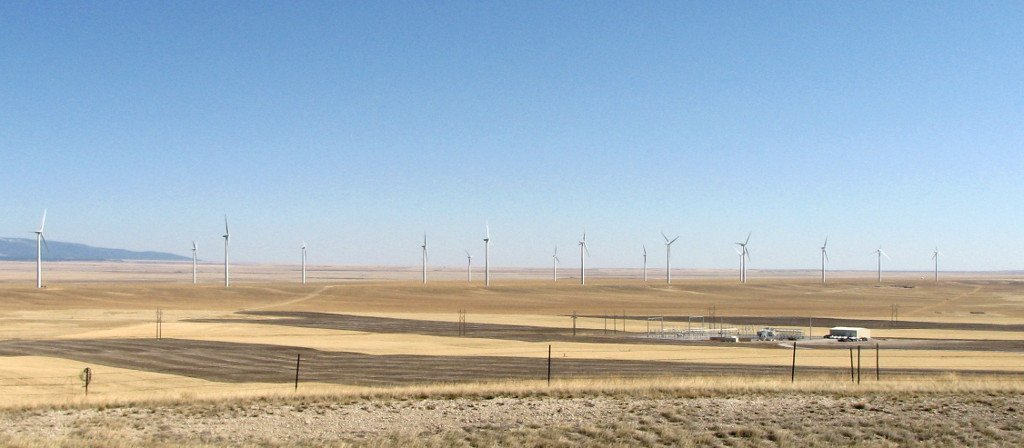 Windmills in the Judith Gap Windfarm