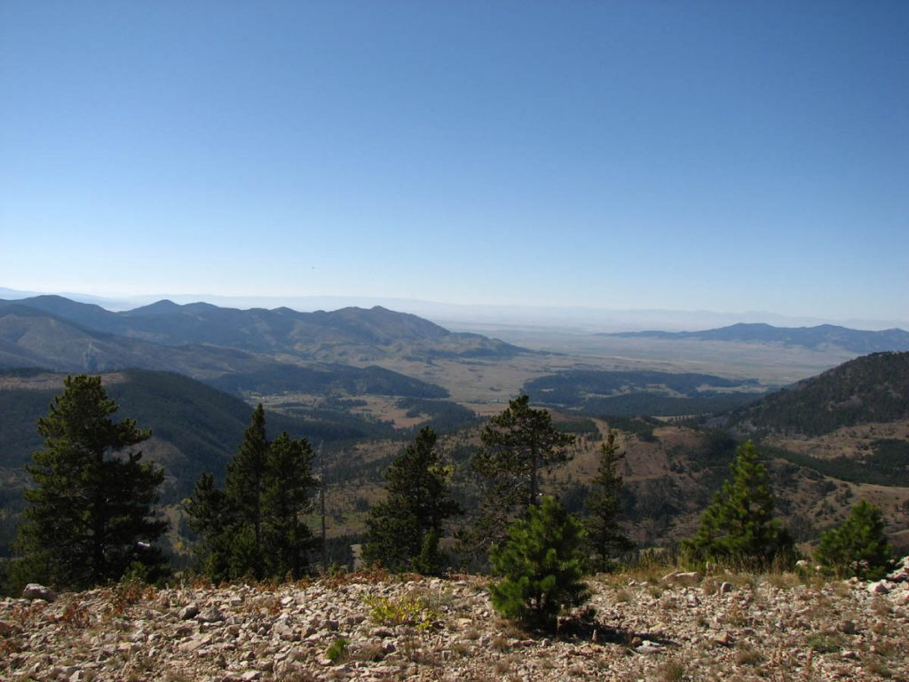 The view from Judith Peak when looking south