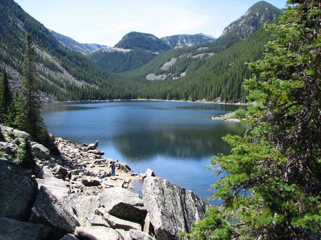 Lava Lake in the Lee Metcalf Wilderness Gallatin National Forest