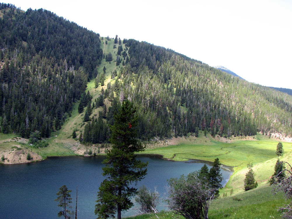 Mystic Lake in the Custer Gallatin National Forest