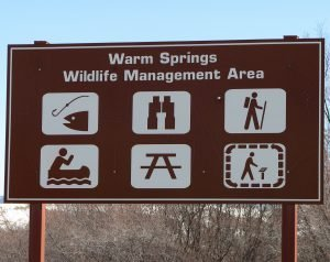 Warm Springs Ponds sign